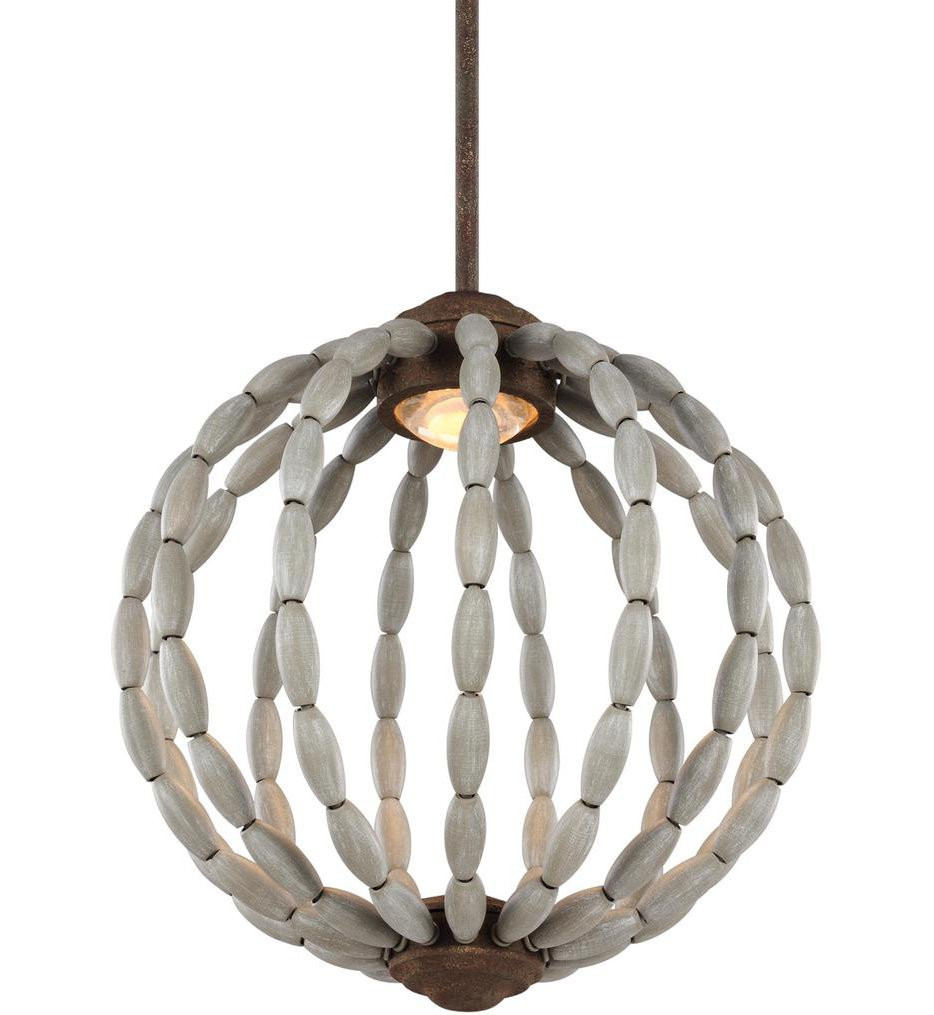 Feiss - P1431DWG/WI-L1 - Orren Driftwood Grey/Weathered Iron 1 Light Pendant