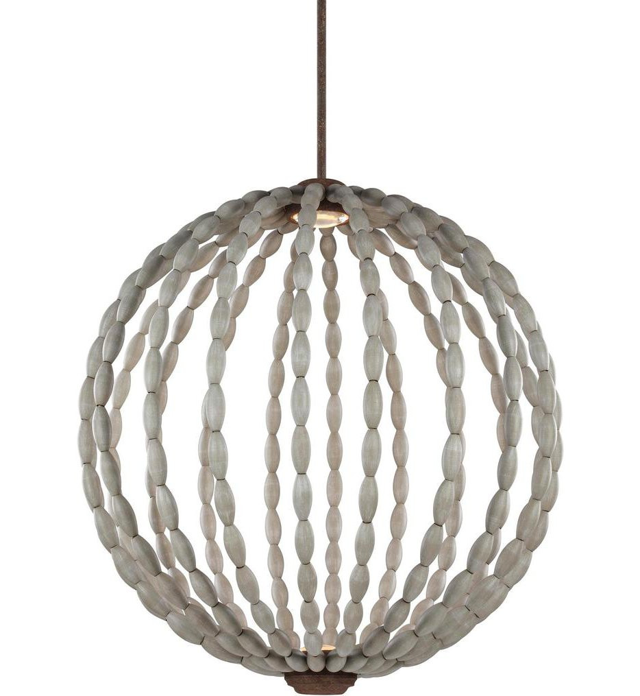Feiss - P1433DWG/WI-L1 - Orren Driftwood Grey/Weathered Iron 32 Inch 2 Light Pendant