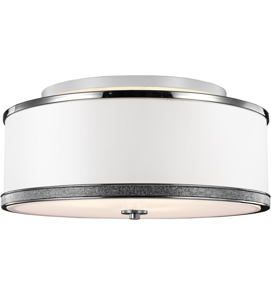 Feiss - SF326PN - Pave Polished Nickel 3 Light Semi-Flush