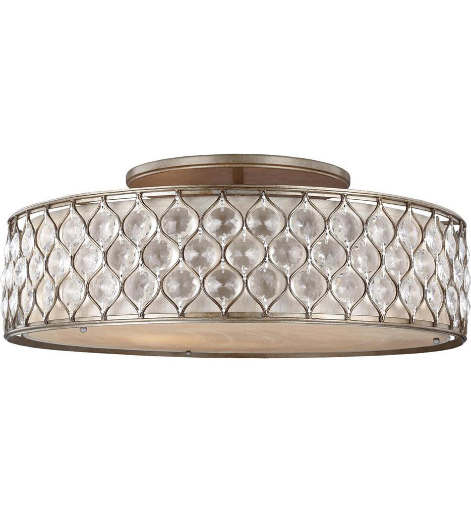 Feiss - SF329BUS - Lucia Burnished Silver 6 Light Semi-Flush