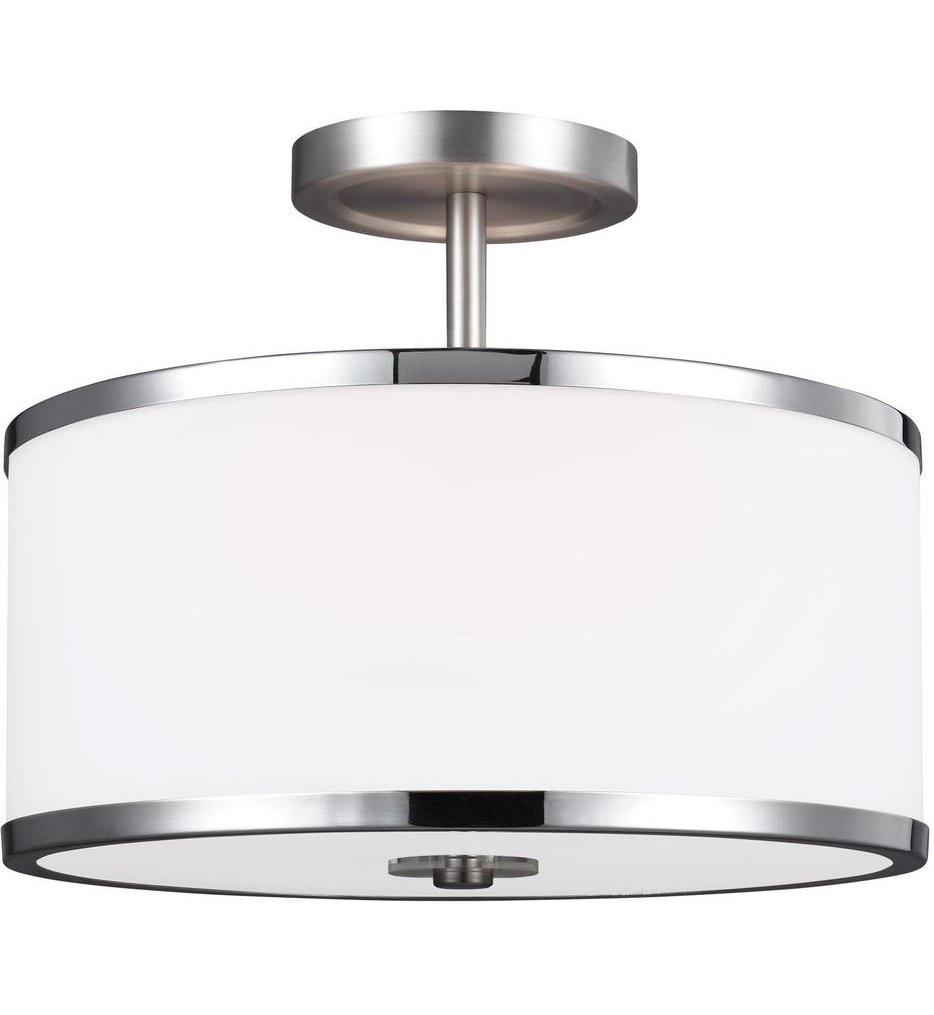 Feiss - SF335SN/CH - Prospect Park Satin Nickel/Chrome 2 Light Semi-Flush