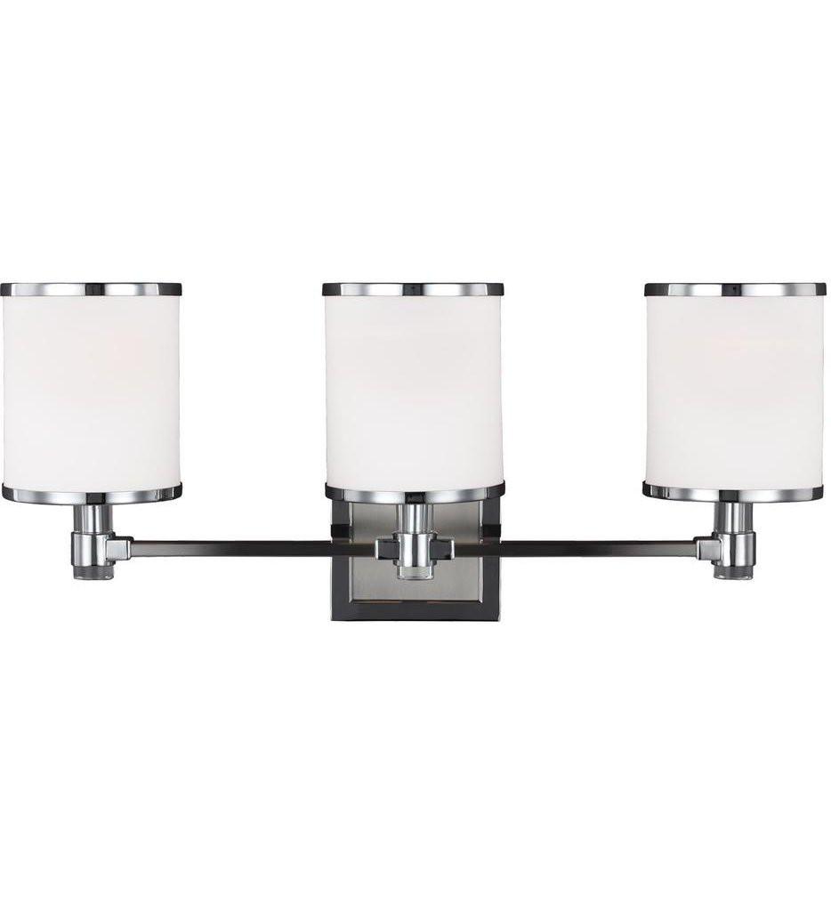 Feiss - VS23303SN/CH - Prospect Park Satin Nickel/Chrome 3 Light Bath Vanity Light