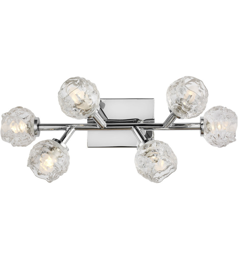 Feiss - VS24336CH-L1 - Arielle Chrome 6 Light Bath Vanity Light