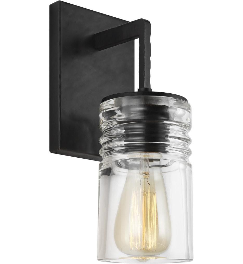 Feiss - VS2451AI - Ansley Aged Iron 1 Light Bath Vanity Light