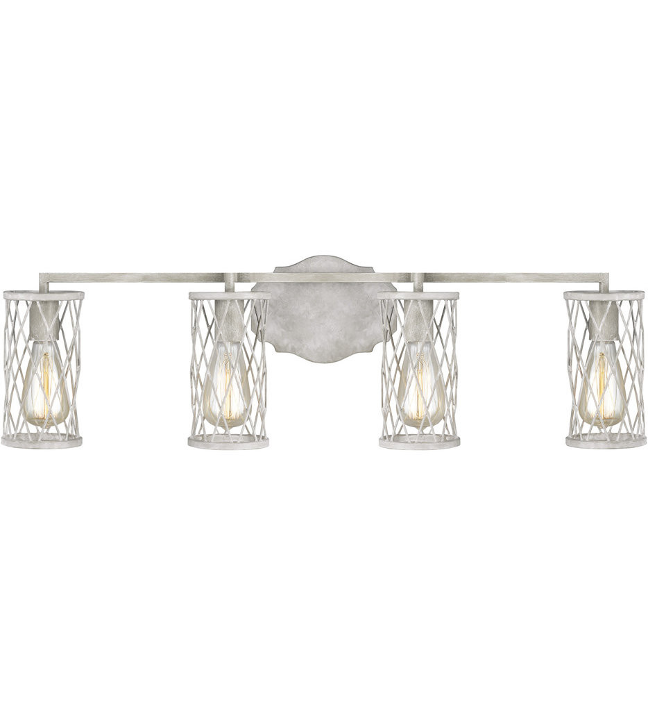 Feiss - VS2484FWO/DWW - Cosette French Washed Oak/Distressed White Wood 4 Light Bath Vanity Light