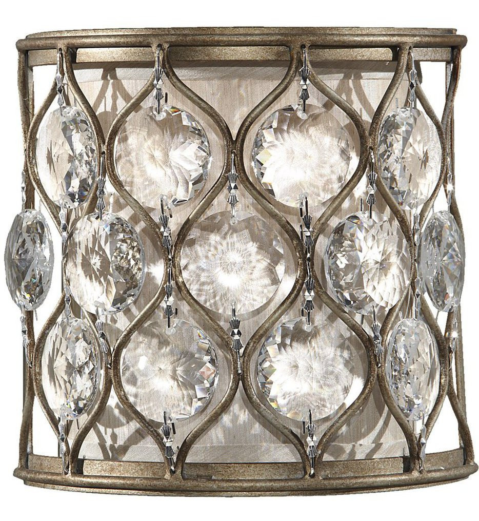 Feiss - WB1497BUS - Lucia Burnished Silver 1 Light Wall Sconce