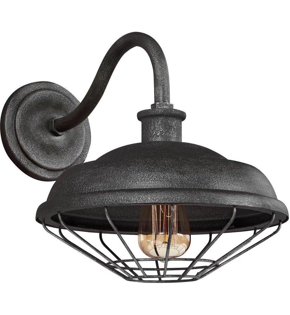 Feiss - WB1829SGM - Lennex Slate Grey Metal 12.5 Inch 1 Light Outdoor Wall Lantern