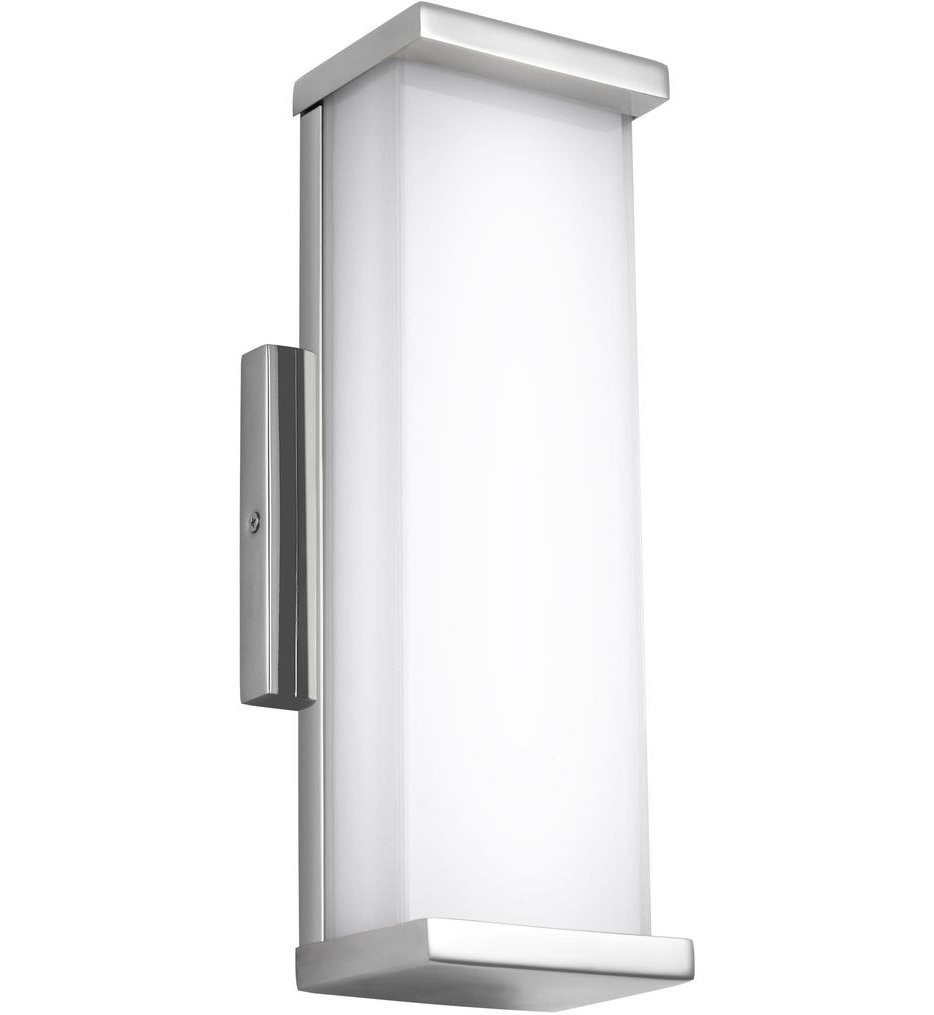 Feiss - WB1862PST-L1 - Altron Polished Stainless Steel 13.25 Inch Outdoor Wall Sconce