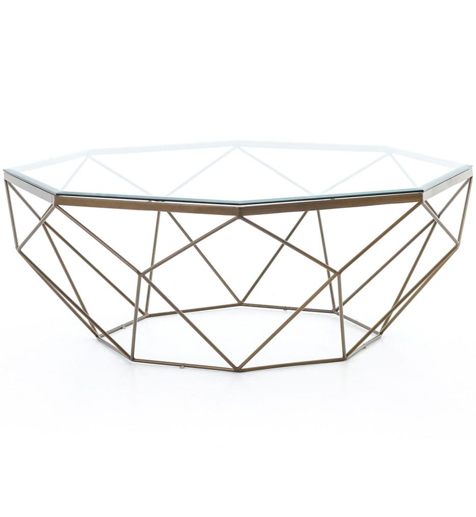 Brendlen + Morris - IMAR-54-BRS - Marlow Geometric Coffee Table
