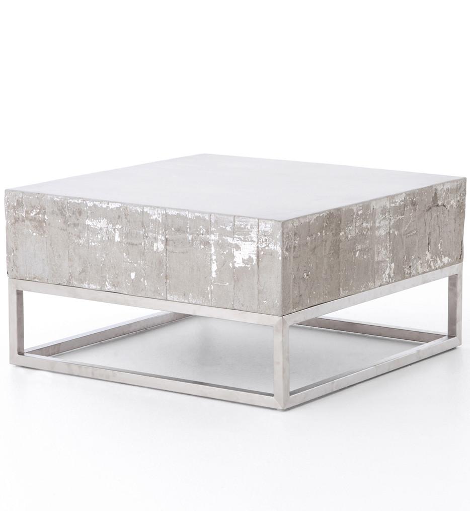 Brendlen + Morris - VCNS-F011 - Constantine Concrete & Chrome Coffee Table