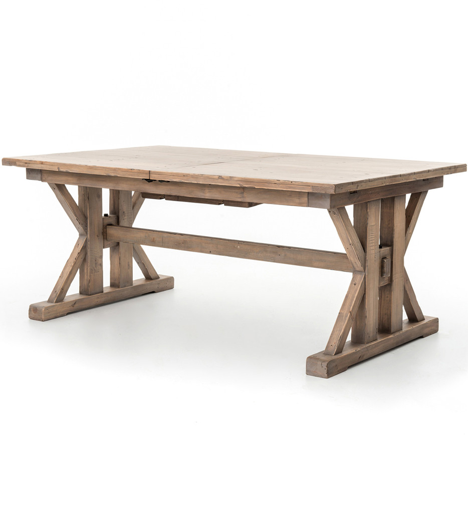 Brendlen + Morris - Tuscan Spring Sundried Wheat 72 Inch/96 Inch Extension Dining Table