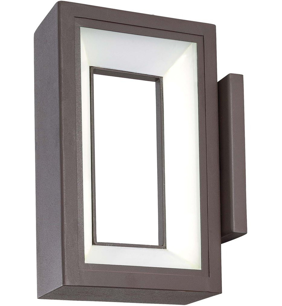 George Kovacs - P1200-615C-L - Skylight Textured Dorian Bronze 10 Inch Outdoor Wall Sconce