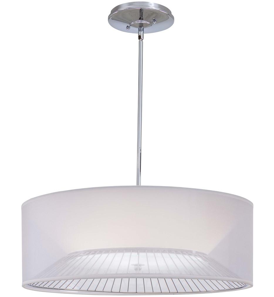 George Kovacs - P313-077 - Chrome Pendants 3 Light 8.75 Inch Tall Pendant
