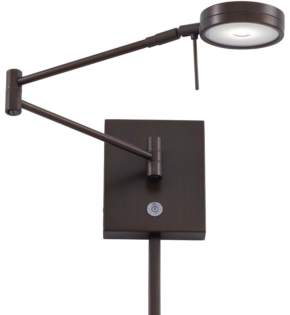 George Kovacs - George's Reading Room 1 Light Round Head LED Swing Arm Wall Lamp