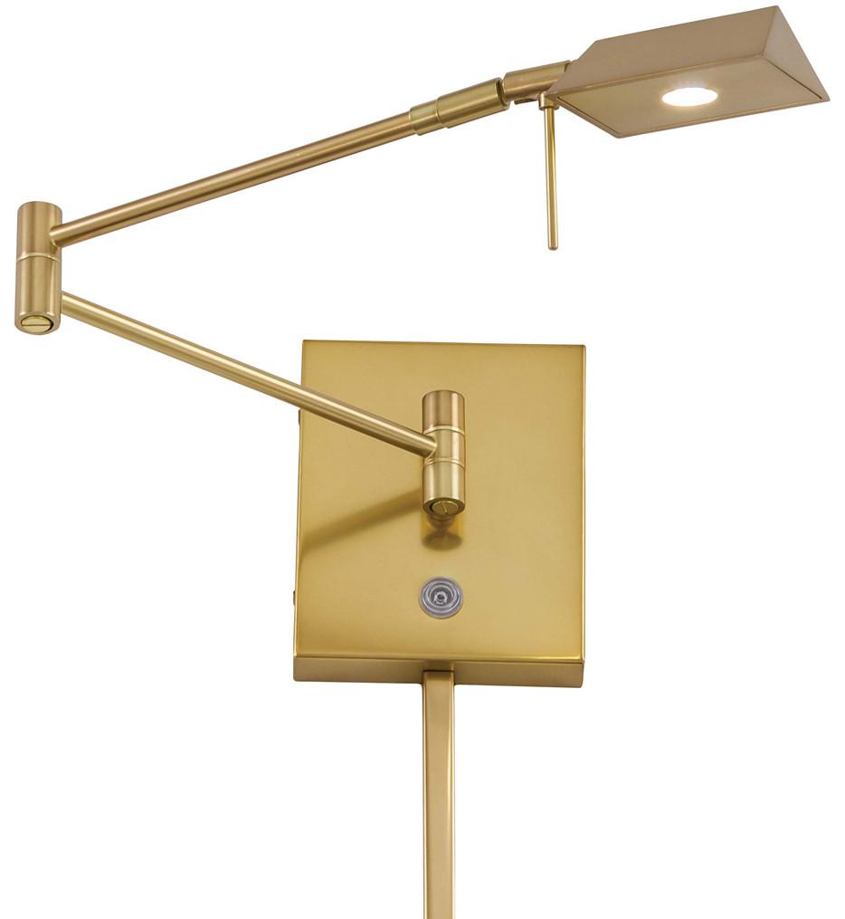 George Kovacs - George's Reading Room 1 Light Angular Head LED Swing Arm Wall Lamp