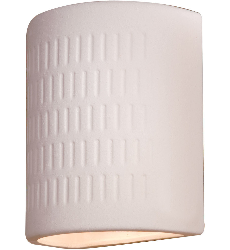 The Great Outdoors - 564-1 - 10 Inch White Ceramic Outdoor Wall Sconce