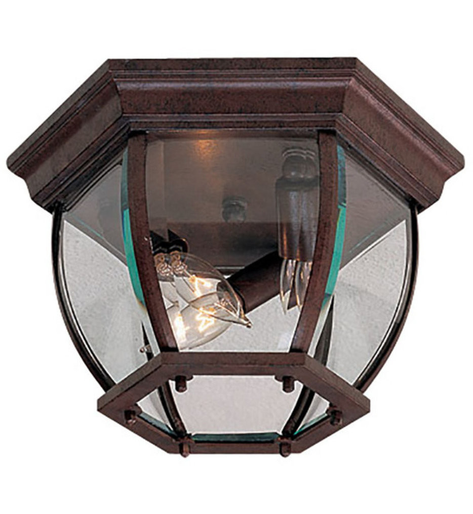 The Great Outdoors - Wyndmere 3 Light Outdoor Flush Mount