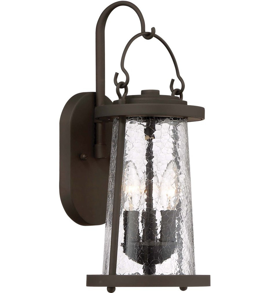 The Great Outdoors - 71222-143 - Haverford Grove Oil Rubbed Bronze 3 Light Outdoor Wall Lantern