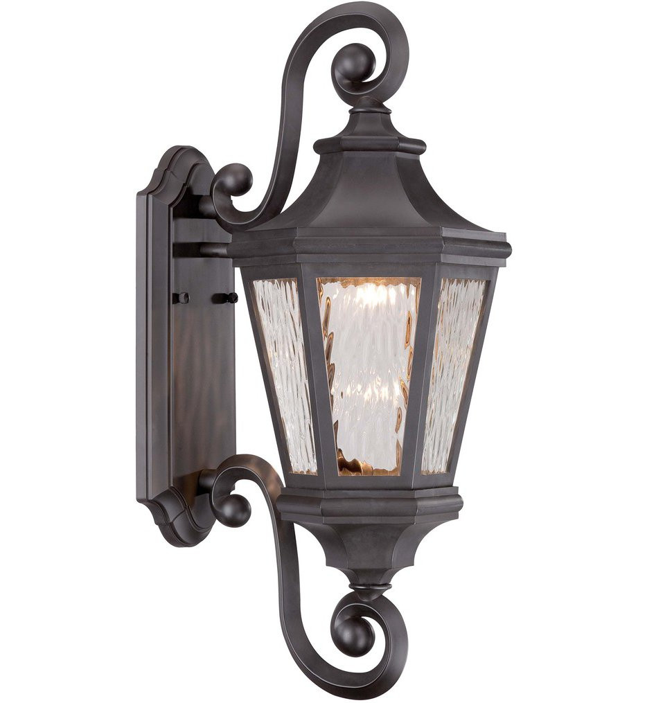 The Great Outdoors - 71822-143-L - Hanford Pointe 21.75 Inch Oil Rubbed Bronze Outdoor Wall Sconce