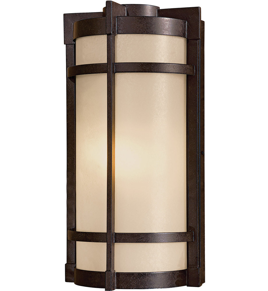 The Great Outdoors - 72021-A179-PL - Andrita Court 17.25 Inch Textured French Bronze Outdoor Wall Sconce