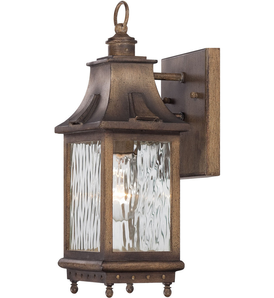 The Great Outdoors - 72111-149 - Wilshire Park 13.75 Inch Portsmouth Bronze Outdoor Wall Sconce