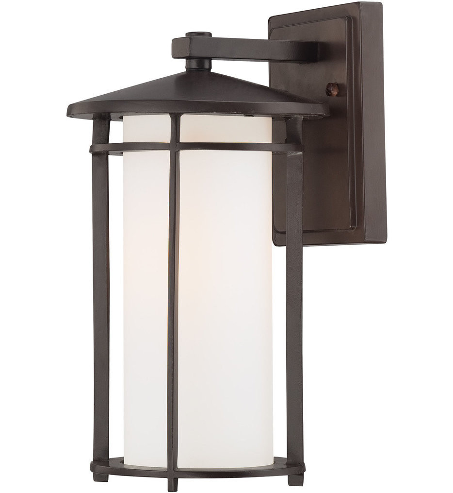 The Great Outdoors - 72312-615B - Addison Park 12.5 Inch Dorian Bronze Outdoor Wall Sconce
