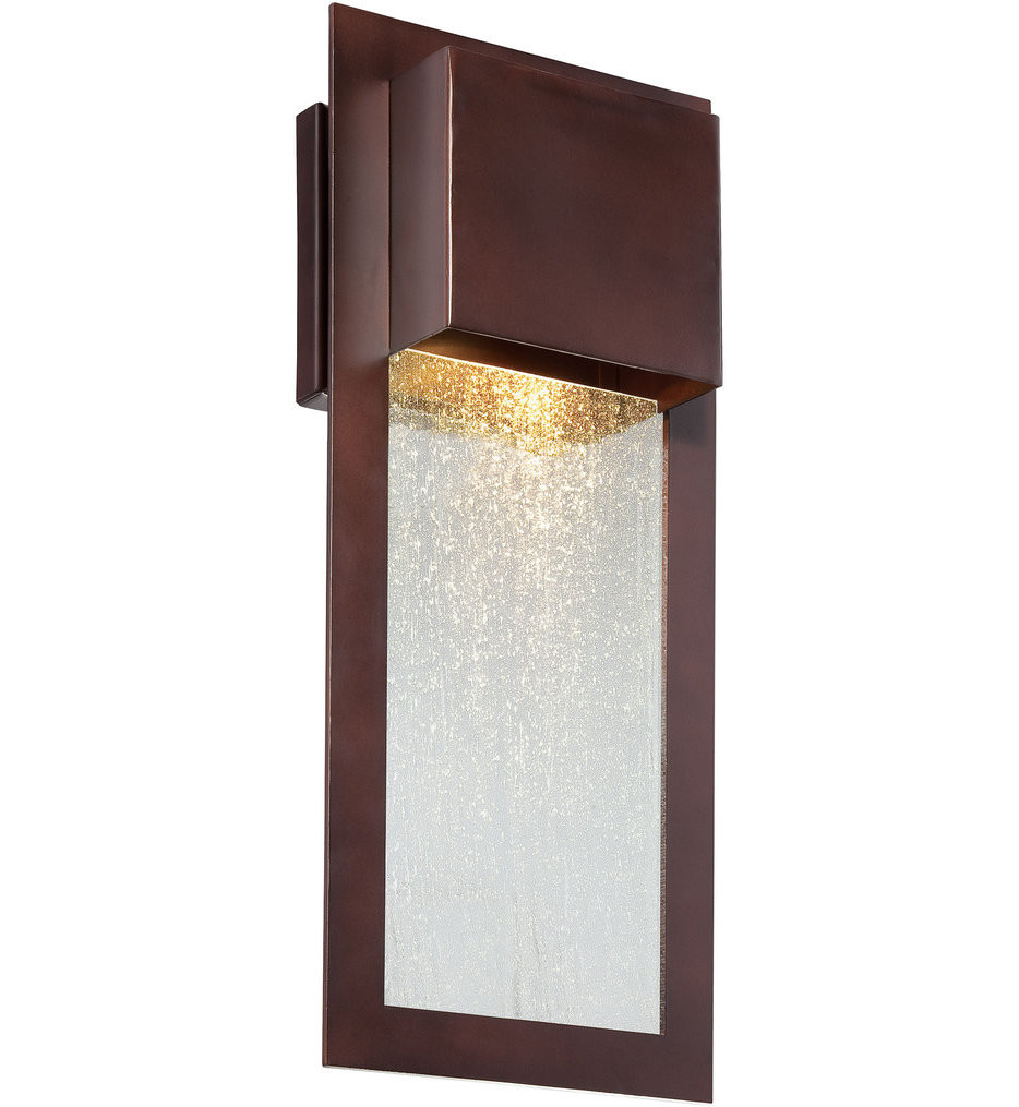 The Great Outdoors - 72382-246 - Westgate 15.75 Inch Alder Bronze Outdoor Wall Sconce