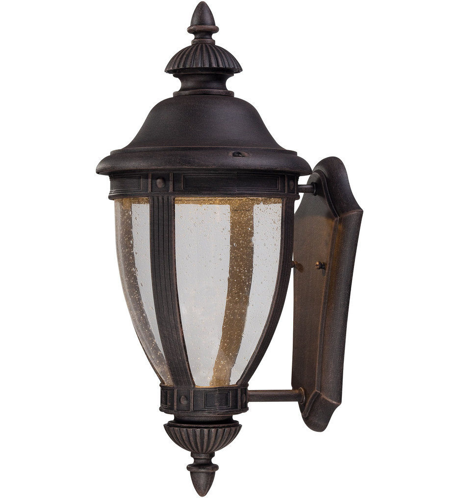 The Great Outdoors - 72411-51A-L - Wynterfield 15.5 Inch Burnt Rust Outdoor Wall Sconce