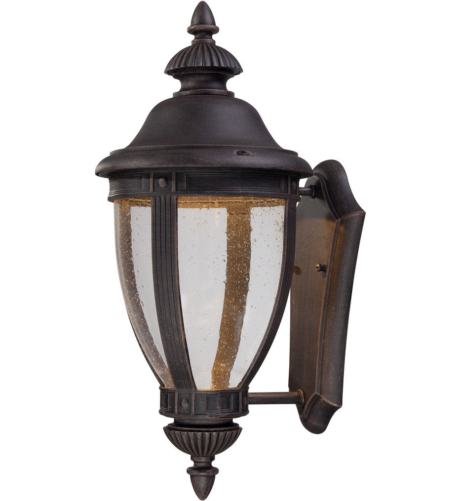 The Great Outdoors - 72413-51A-L - Wynterfield 22.25 Inch Burnt Rust Outdoor Wall Sconce
