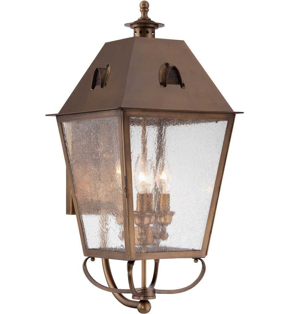The Great Outdoors - 72427-212 - Edenshire 26 Inch English Brass Outdoor Wall Sconce