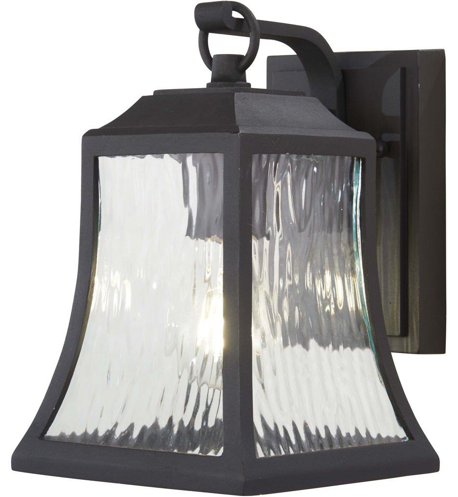 The Great Outdoors - 72461-66 - Cassidy Park Black 1 Light Outdoor Wall Lantern