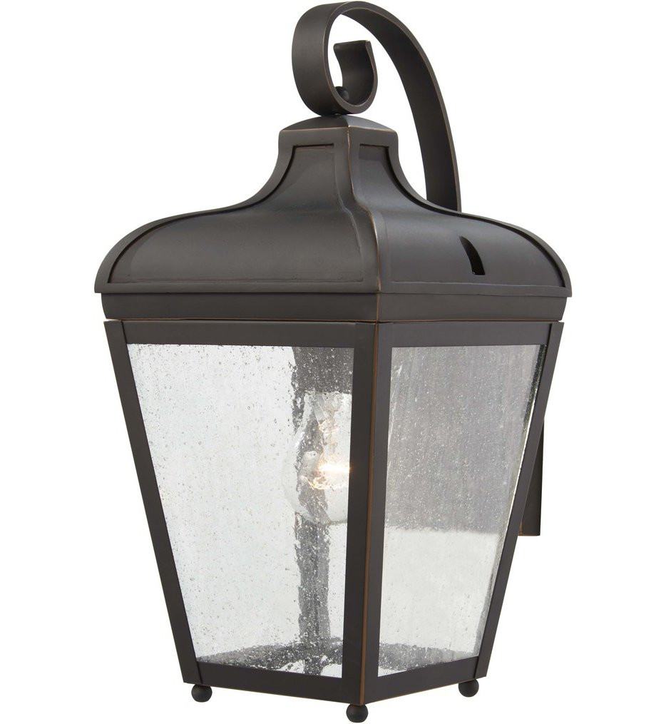 The Great Outdoors - 72481-143C - Marquee Oil Rubbed Bronze with Gold Highlights 1 Light Outdoor Wall Lantern