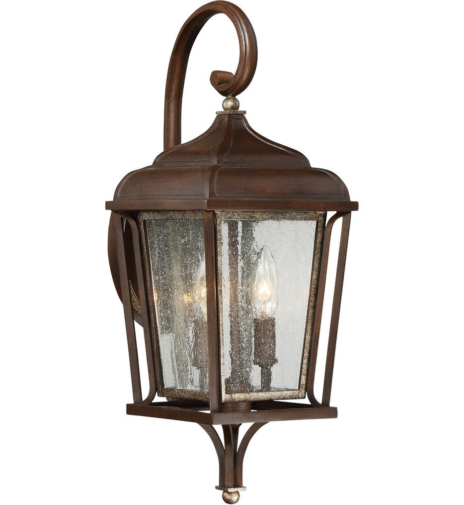 The Great Outdoors - 72541-593 - Astrapia Dark Rubbed Sienna 2 Light Outdoor Wall Lantern