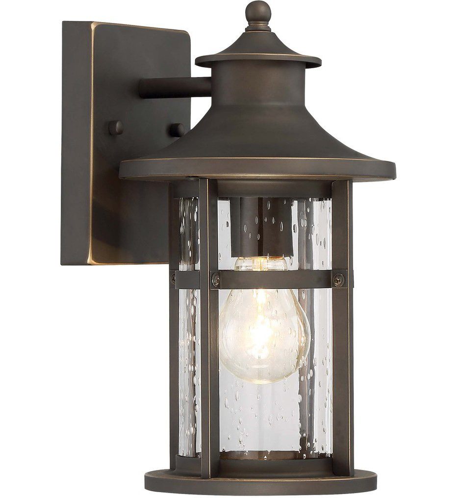 The Great Outdoors - 72551-143C - Highland Ridge Oil Rubbed Bronze with Gold Highlights 1 Light Outdoor Wall Lantern
