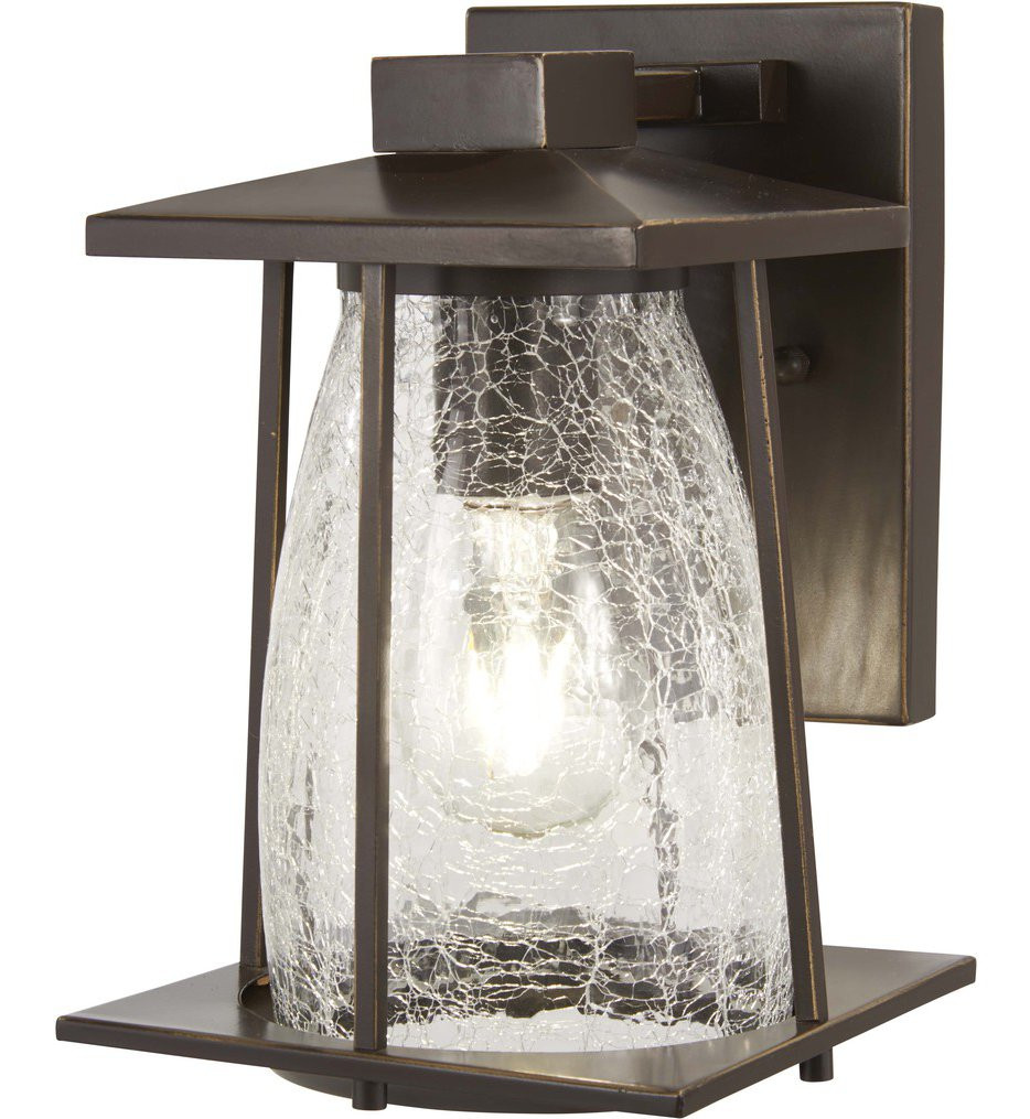 The Great Outdoors - 72571-143C - Marlboro Oil Rubbed Bronze with Gold Highlights 1 Light Outdoor Wall Lantern