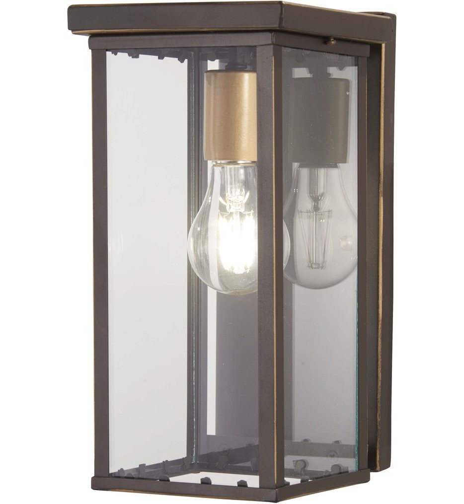 The Great Outdoors - 72581-143C - Casway Oil Rubbed Bronze with Gold Highlights 1 Light Outdoor Hanging Lantern