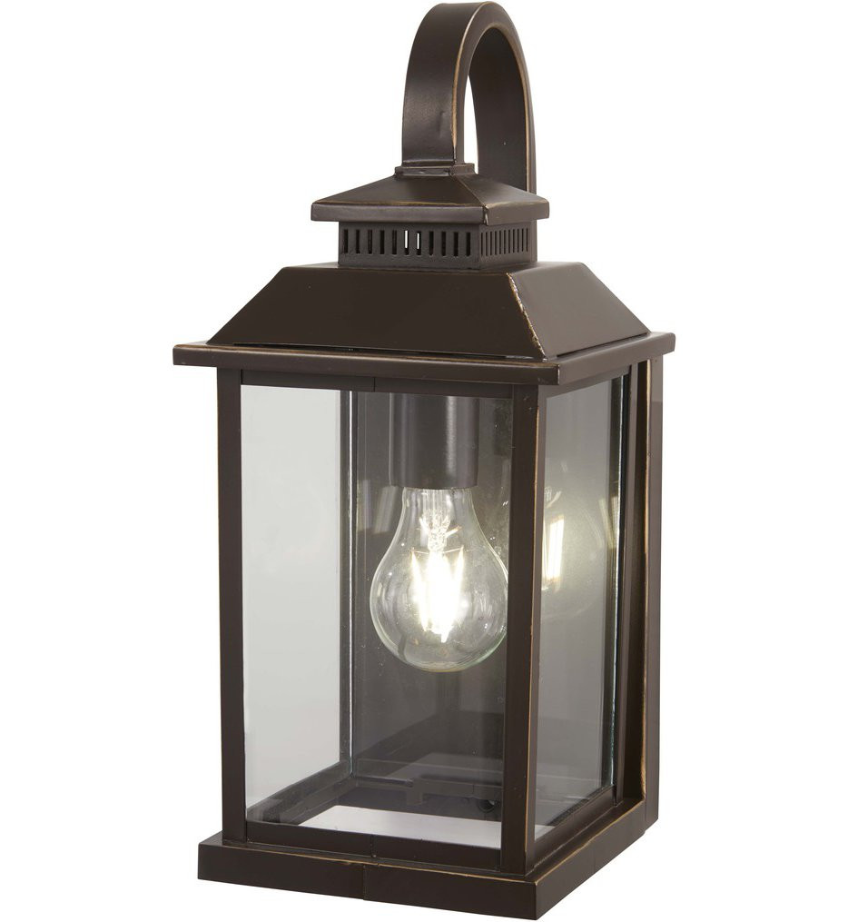 The Great Outdoors - 72591-143C - Miner's Loft Oil Rubbed Bronze with Gold Highlights 1 Light Outdoor Wall Lantern