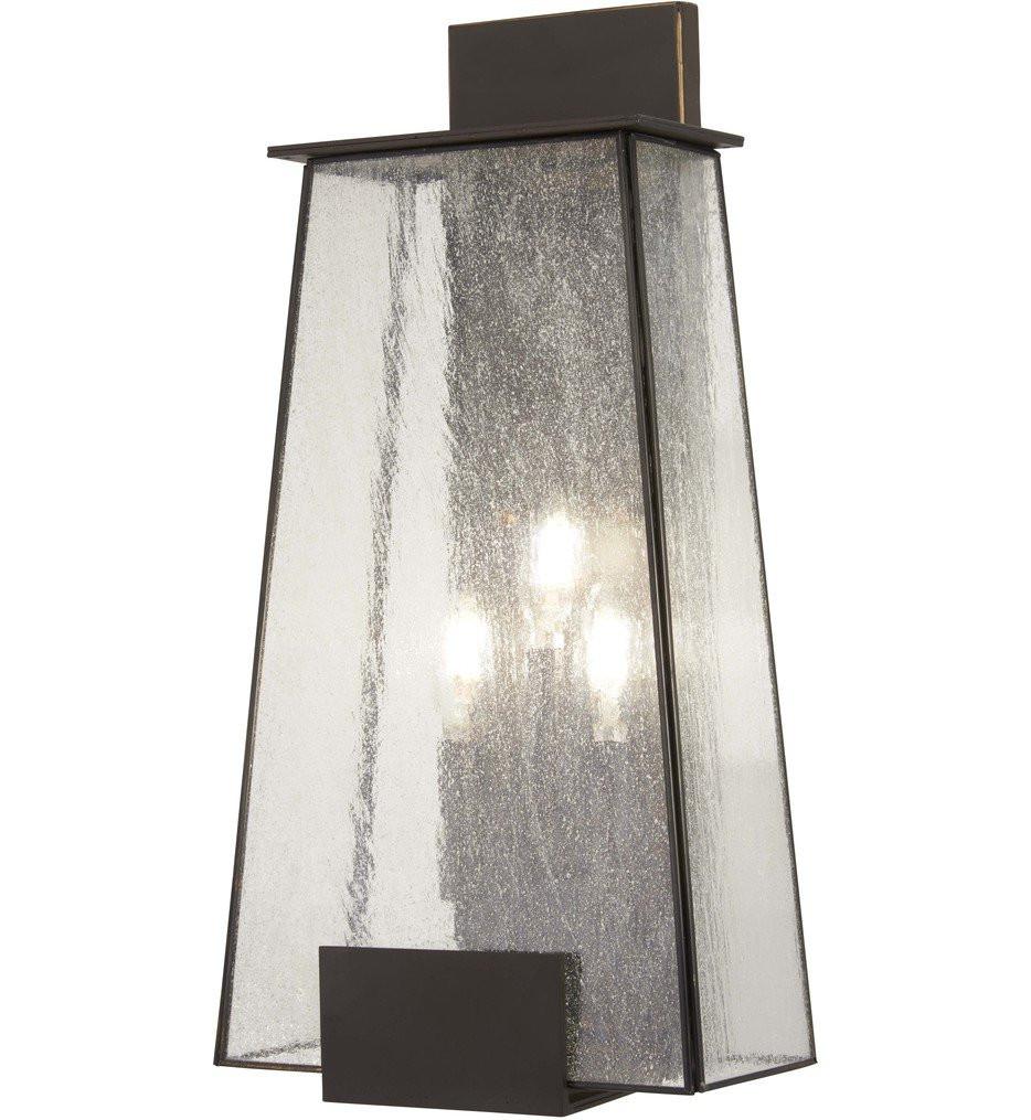 The Great Outdoors - 72603-226 - Bistro Dawn Dakota Bronze 3 Light Outdoor Wall Lantern