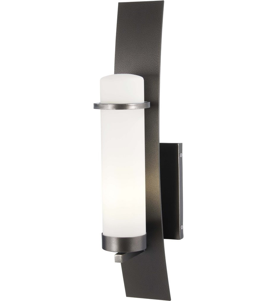 The Great Outdoors - 72652-172 - Arcus Truth Smoked Iron 22 Inch 1 Light Outdoor Wall Lantern