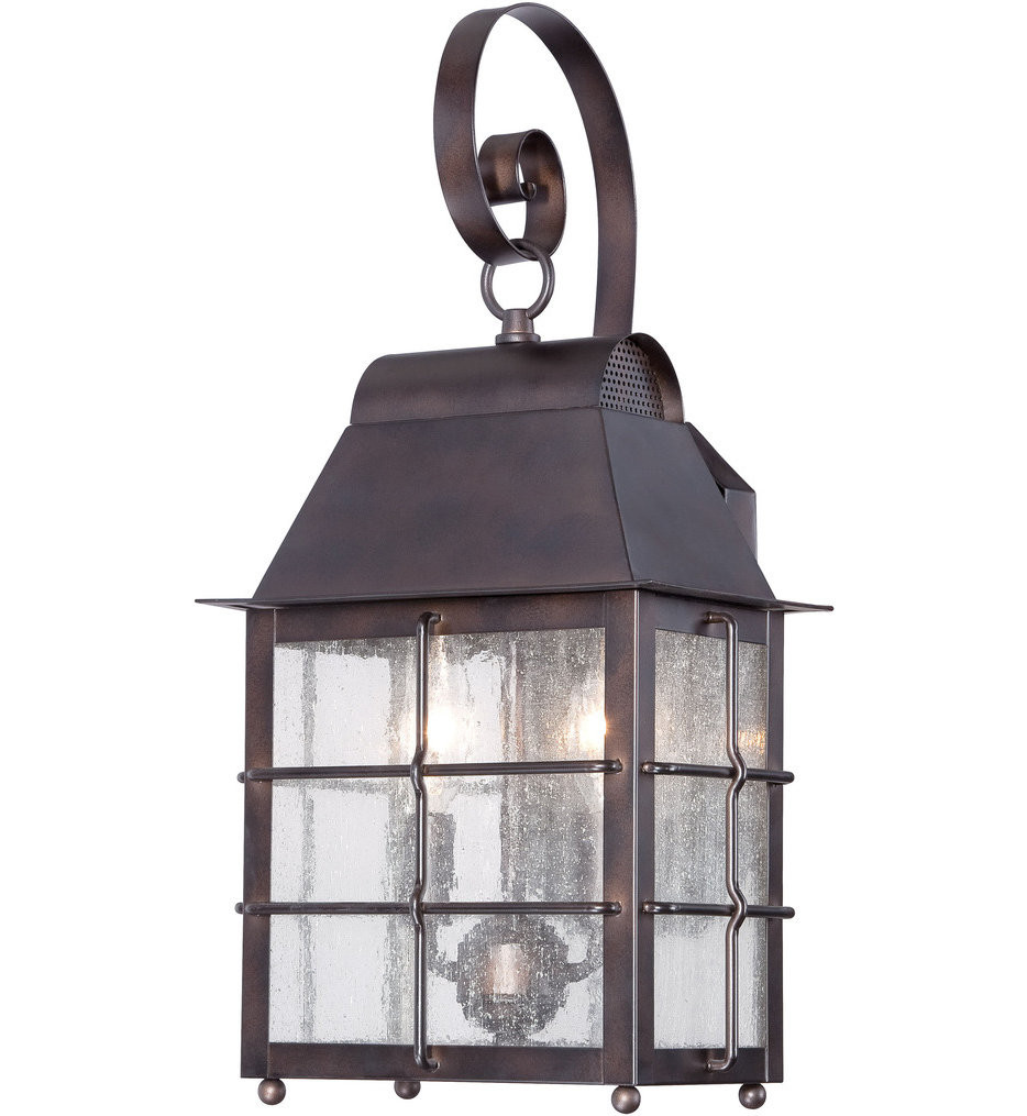 The Great Outdoors - 73092-189 - Willow Pointe 7.25 Inch Chelsea Bronze Outdoor Wall Sconce