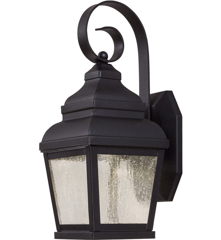 The Great Outdoors - 8261-66-L - Mossoro 14.25 Inch Black Outdoor Wall Sconce