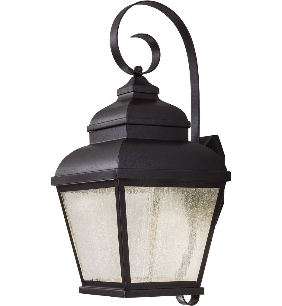 The Great Outdoors - 8263-66-L - Mossoro 22.75 Inch Black Outdoor Wall Sconce