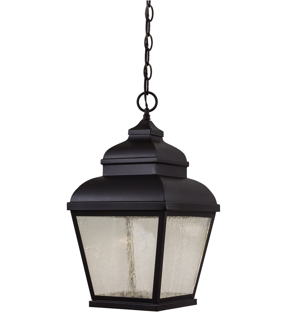 The Great Outdoors - 8264-66-L - Mossoro 19 Inch Black Outdoor Pendant