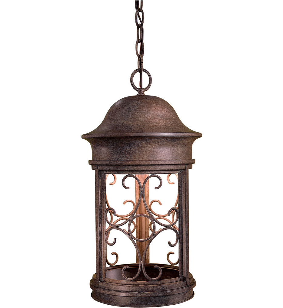 The Great Outdoors - 8284-A61 - Sage Ridge 19.88 Inch Vintage Rust Outdoor Pendant