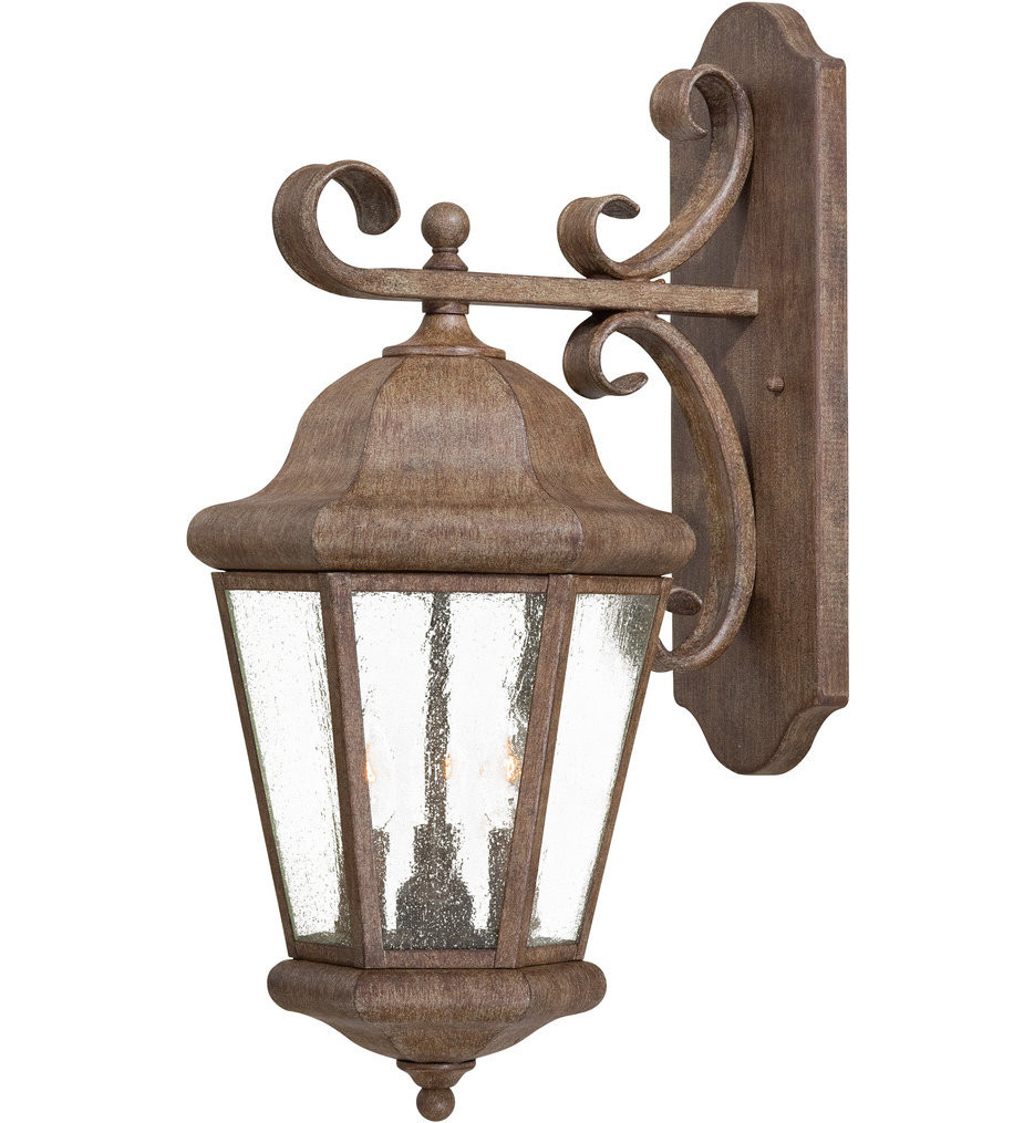 The Great Outdoors - 8613-A61 - Taylor Court 22.75 Inch Vintage Rust Outdoor Wall Sconce
