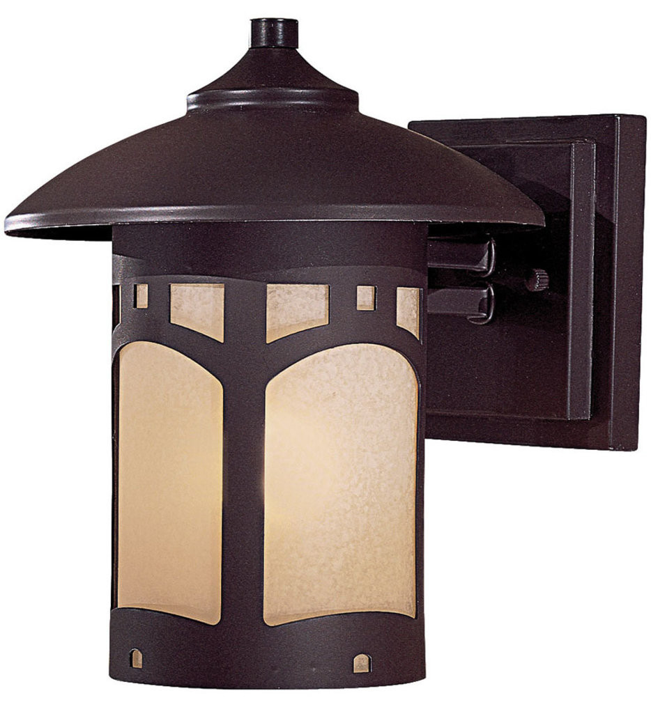 The Great Outdoors - 8721-A615B - Harveston Manor 9 Inch Dorian Bronze Outdoor Wall Sconce
