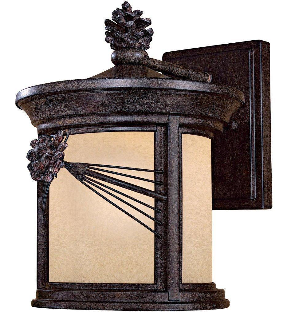 The Great Outdoors - Abbey Lane 12.5 Inch Iron Oxide Outdoor Wall Sconce