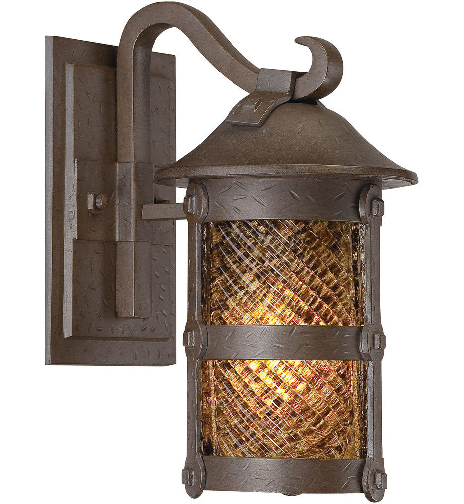 The Great Outdoors - 9251-A199-PL - Lander Heights 12.5 Inch Forged Bronze Outdoor Wall Sconce