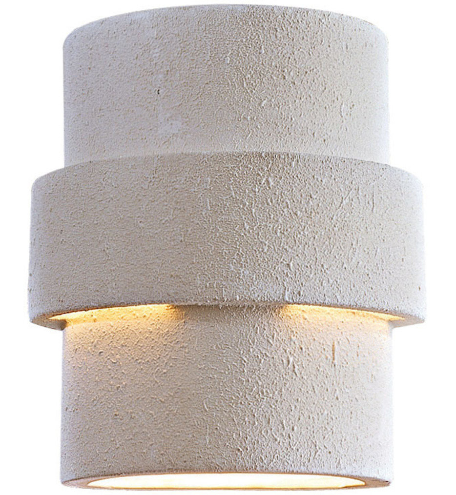 The Great Outdoors - 9836 - 9.25 Inch White Ceramic Outdoor Wall Sconce