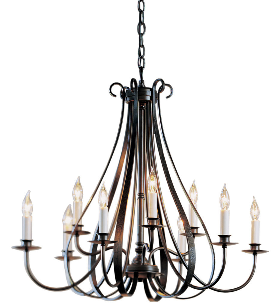 Hubbardton Forge - Sweeping Taper 9 Arm Chandelier